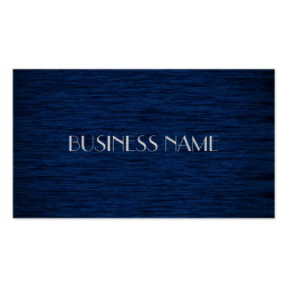 Dark Blue Wood Material Business Cards