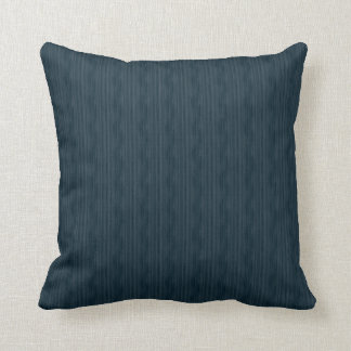 Dark Blue Woodgrain Throw Pillow