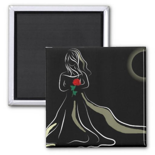 Dark Bride 2 Inch Square Magnet
