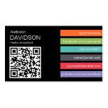 Dark Bright Bar QR CODE Social Media Business Card