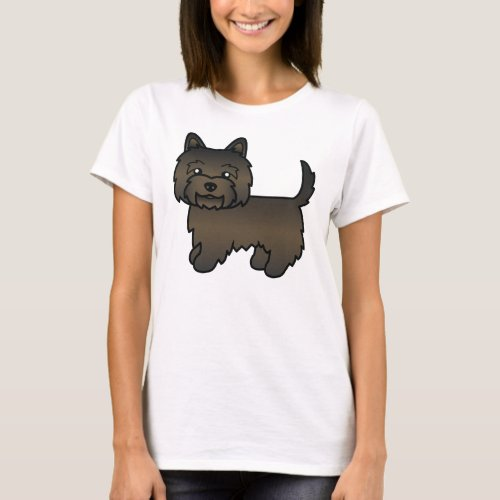 Dark Brindle Cairn Terrier Cute Cartoon Dog T_Shirt