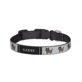 Dark Brindle Cairn Terrier Dogs & Dog's Name Pet Collar