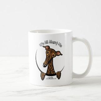 Dark Brindle Greyhound IAAM Coffee Mug