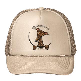 Dark Brindle Greyhound IAAM Trucker Hat