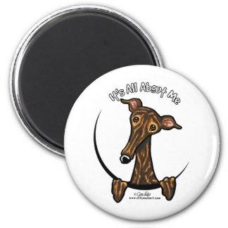 Dark Brindle Greyhound IAAM Magnet