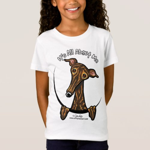 Dark Brindle Greyhound IAAM T_Shirt