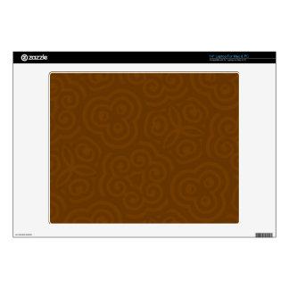 """Dark Brown abstract Parten 14"""" Laptop Skin"""