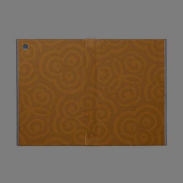 Dark Brown abstract Parten iPad Mini Cover