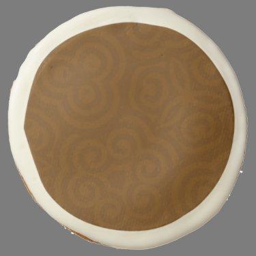 Dark Brown abstract Parten Sugar Cookie
