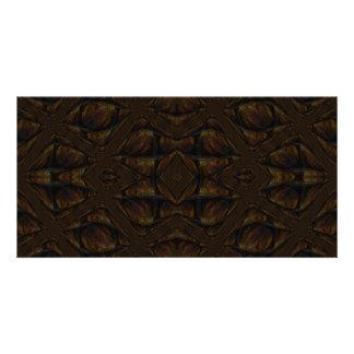 Dark Brown Abstract Pattern Card