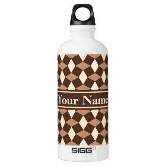 Dark Brown and Almond Wavy Pattern Bottle