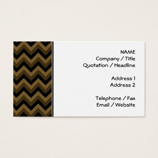 Dark Brown and Black Zigzag Pattern. Business Card