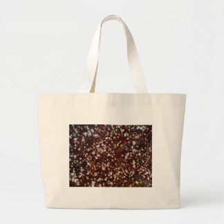 Dark Brown and  Cream Dried flowers Canvas Bag
