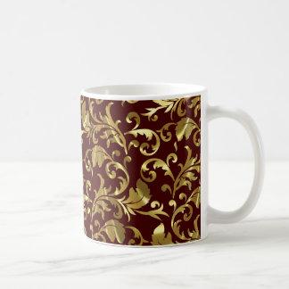 Dark Brown And Gold Vintage Damasks Coffee Mug