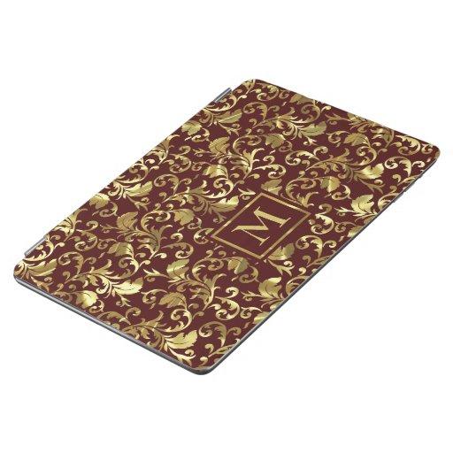 Dark Brown And Gold Vintage Damasks iPad Smart Cov iPad Air Cover