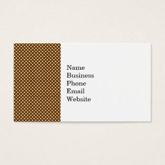 Dark Brown and Linen Autumn Dot Pattern Business Card