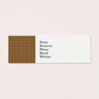 Dark Brown and Linen Autumn Dot Pattern Mini Business Card
