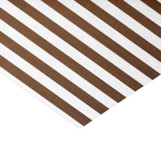 "Dark Brown and White Stripes 10"" X 15"" Tissue Paper"
