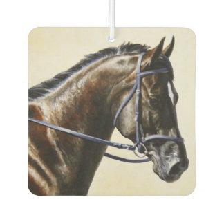 Dark Brown Bay Trakehner Dressage Horse Air Freshener
