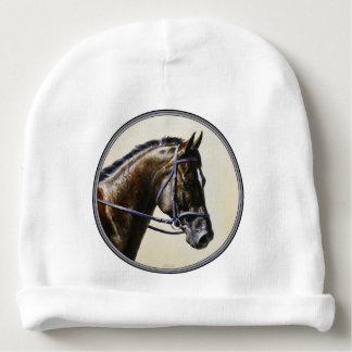 Dark Brown Bay Trakehner Dressage Horse Baby Beanie