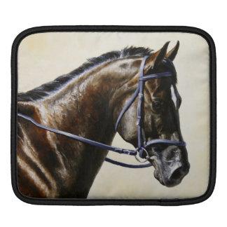 Dark Brown Bay Trakehner Dressage Horse iPad Sleeve