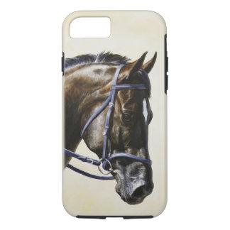 Dark Brown Bay Trakehner Dressage Horse iPhone 7 Case