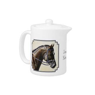 Dark Brown Bay Trakehner Dressage Horse Teapot