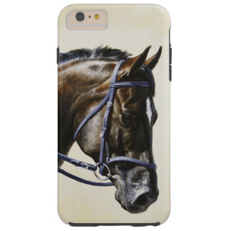 Dark Brown Bay Trakehner Dressage Horse Tough iPhone 6 Plus Case