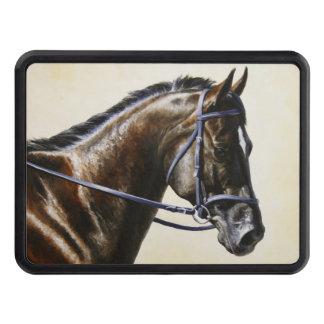 Dark Brown Bay Trakehner Dressage Horse Trailer Hitch Cover