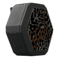 Dark Brown Black Cheetah Abstract Black Bluetooth Speaker