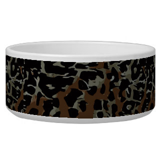 Dark Brown Black Cheetah Abstract Bowl