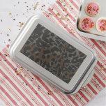Dark Brown Black Cheetah Abstract Cake Pan
