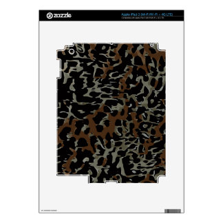 Dark Brown Black Cheetah Abstract iPad 3 Decal