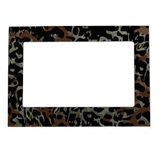 Dark Brown Black Cheetah Abstract Magnetic Frame