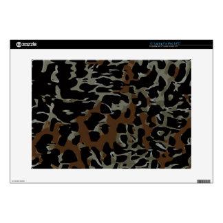 Dark Brown Black Cheetah Abstract Skin For Laptop