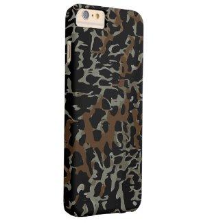 Dark Brown Black Cheetah Abstract Tough iPhone 6 Plus Case