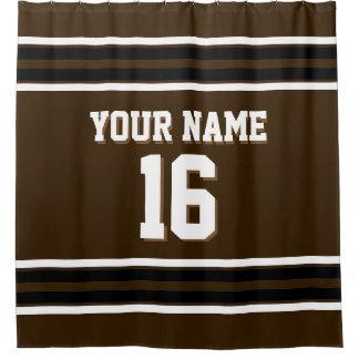 dark brown shower curtain. Dark Brown Black White Stripes Sports Jersey Shower Curtain Curtains  Zazzle