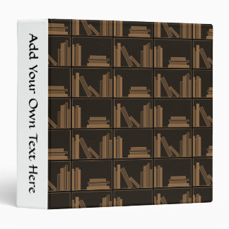 Dark Brown Books on Shelf. Binder