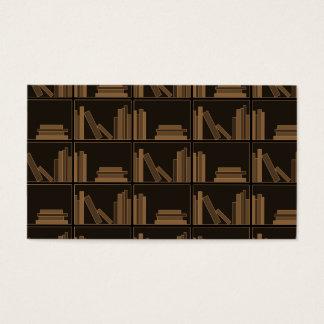 Dark Brown Books on Shelf. Business Card