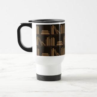 Dark Brown Books on Shelf Coffee Mug