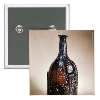 Dark brown bottle, probably Nailsea Pinback Button