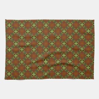 Dark Brown Cross Trellis Pattern Towel