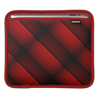 Dark Brown Deep Red Stripes on iPad Horizontal Sleeve For iPads