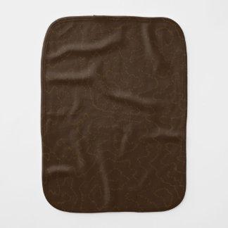 Dark Brown Faux Bois Fake Wood Patterned Burp Cloths