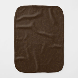 Dark Brown Faux Bois Fake Wood Patterned Baby Burp Cloth