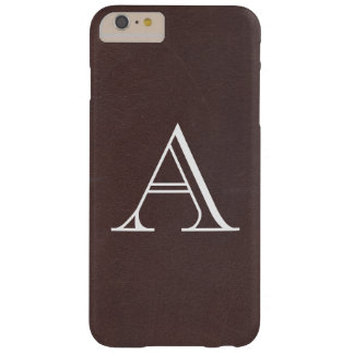 Dark Brown Faux Leather Barely There iPhone 6 Plus Case