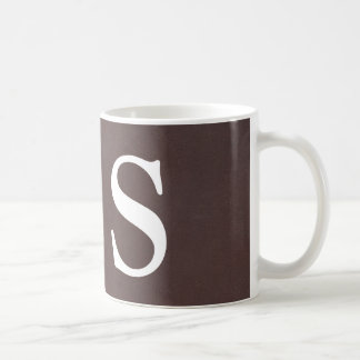Dark Brown Faux Leather Coffee Mug