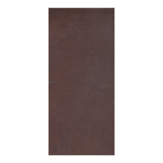 Dark Brown Faux Leather Rack Card