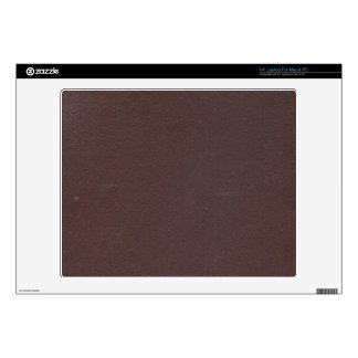 "Dark Brown Faux Leather Skins For 14"" Laptops"