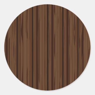 Dark Brown Fence Fence Classic Round Sticker